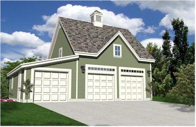 Oak Lawn ThreeCar Carriage House Style Garage Plans Expandable – California Garage Plans