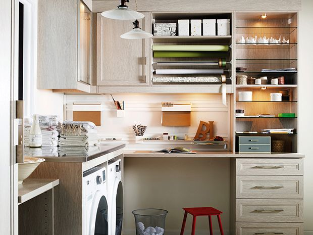Laundry Craft Rooms, Garage Entry, California Closets, Space Crafts, Closet  Ideas, Gift Wrapping, Storage Ideas, Built Ins, Basement