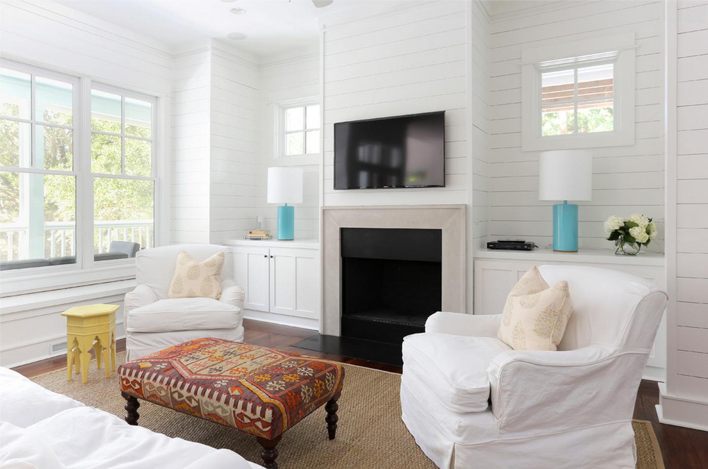 Amy Trowman Sullivans Beach House No. 3 - beach-style - Living Room ...