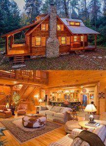 40 Log Cabins · #logcabinhomes