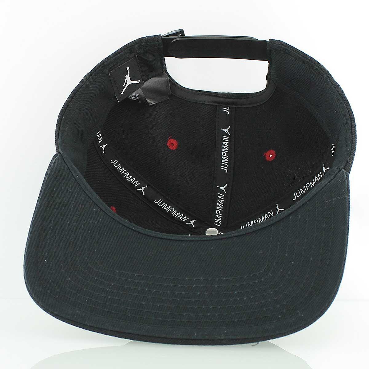 67c33dce610 JORDAN JUMPMAN Snapback Cap BLACK GYM RED
