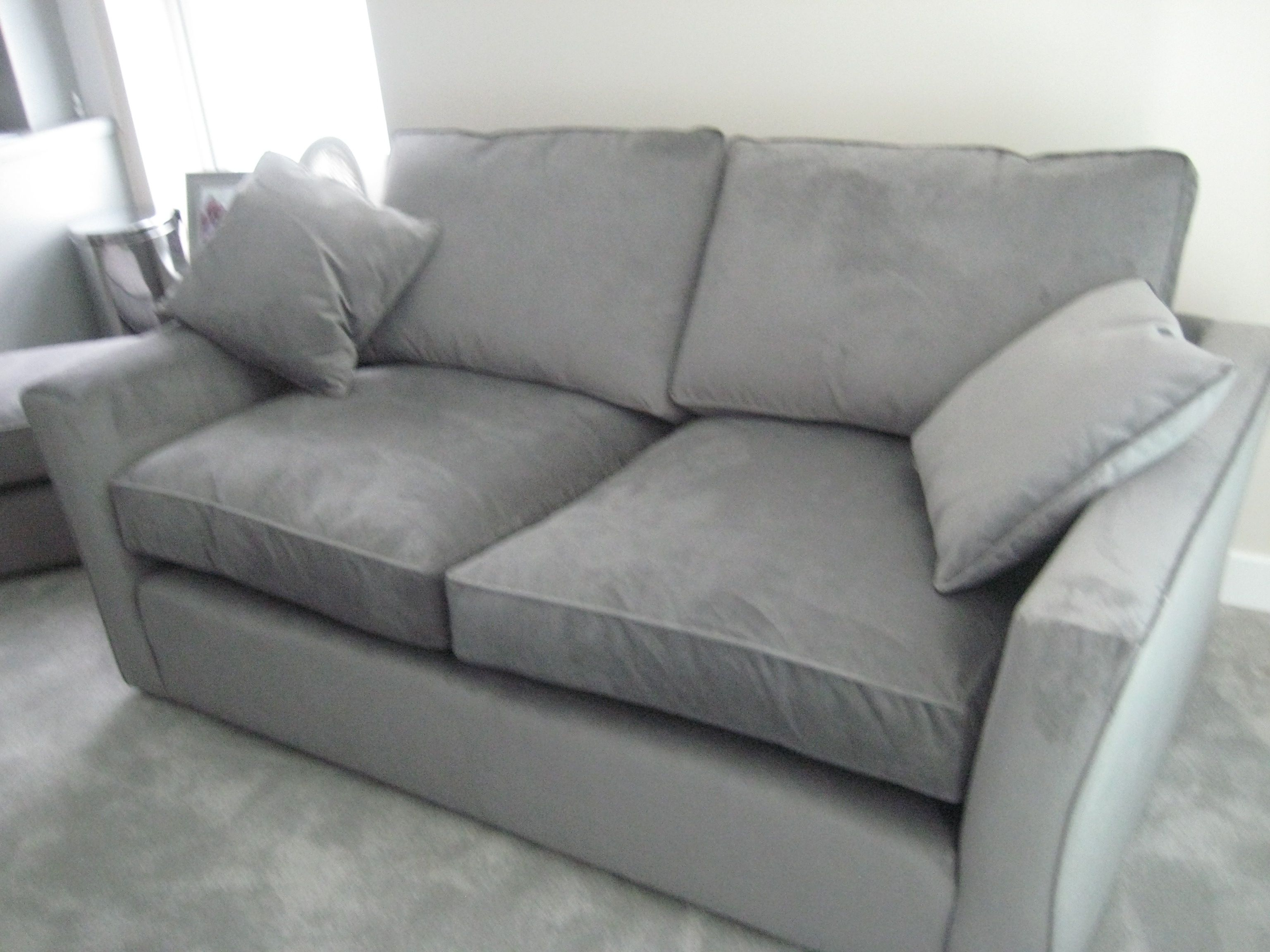 Bespoke U0027deep N Squashyu0027 Sofa In Warwick Fabrics Plush Velvet. It Sits As