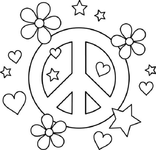 Coloring Pages Hearts Peacepng 600577 coloring pages