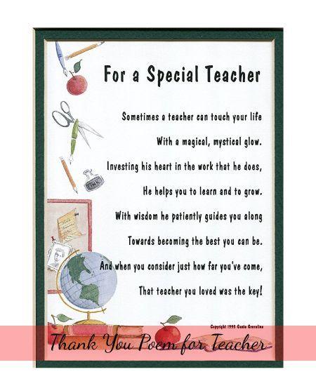 Teacher Appreciation Week Poems 7