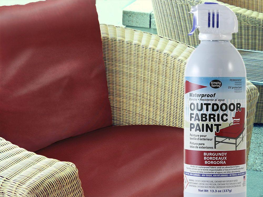 Burgundy Waterproof Outdoor Fabric Spray Paint Vinyl Cushions Outdoor Fabric Fabric Spray Paint Painted Outdoor Furniture