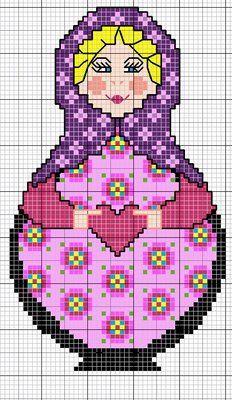 gazette94: #matroshka #dolls #cross-stitch