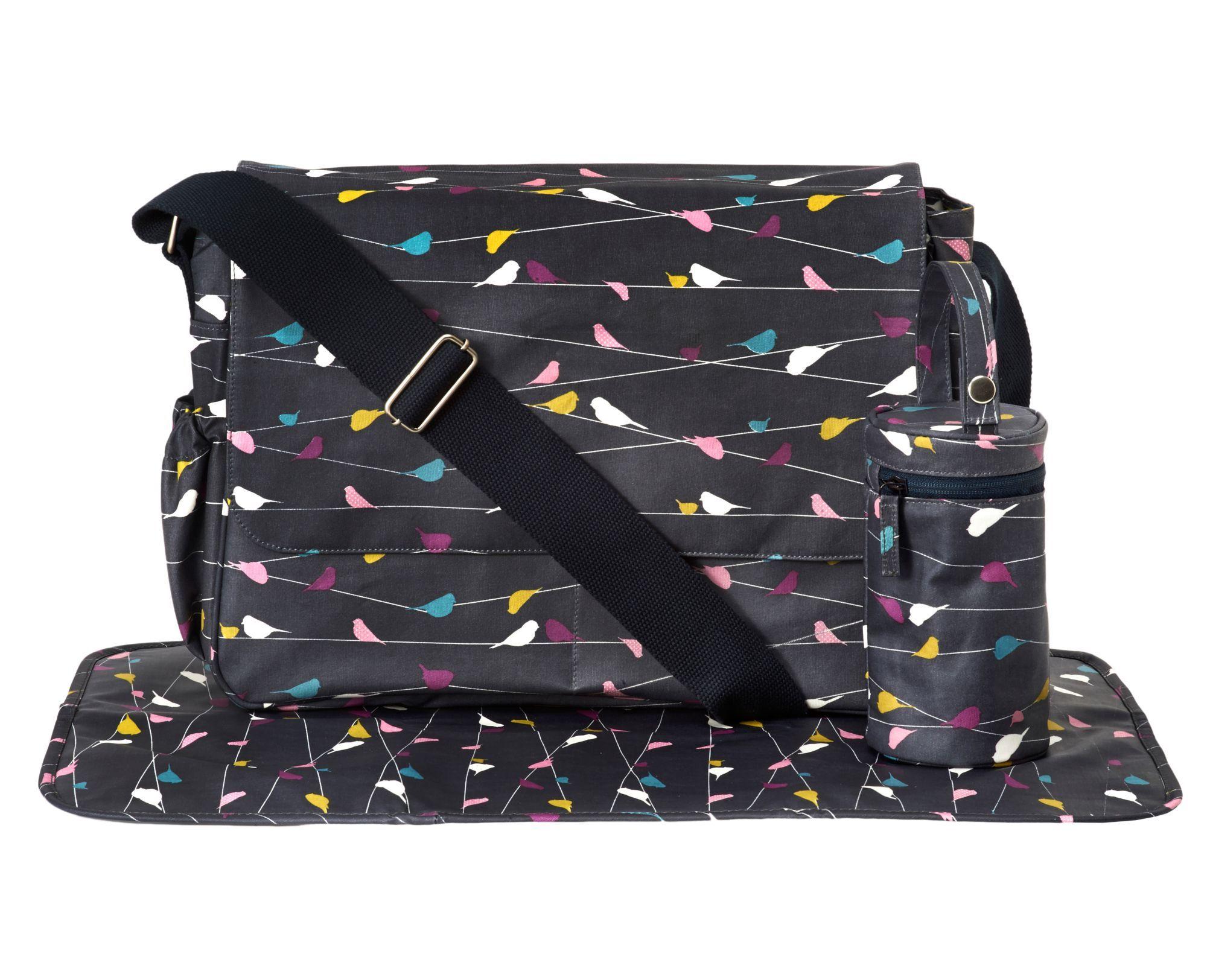 Mothercare Laminated Messenger Changing Bag Drop Print