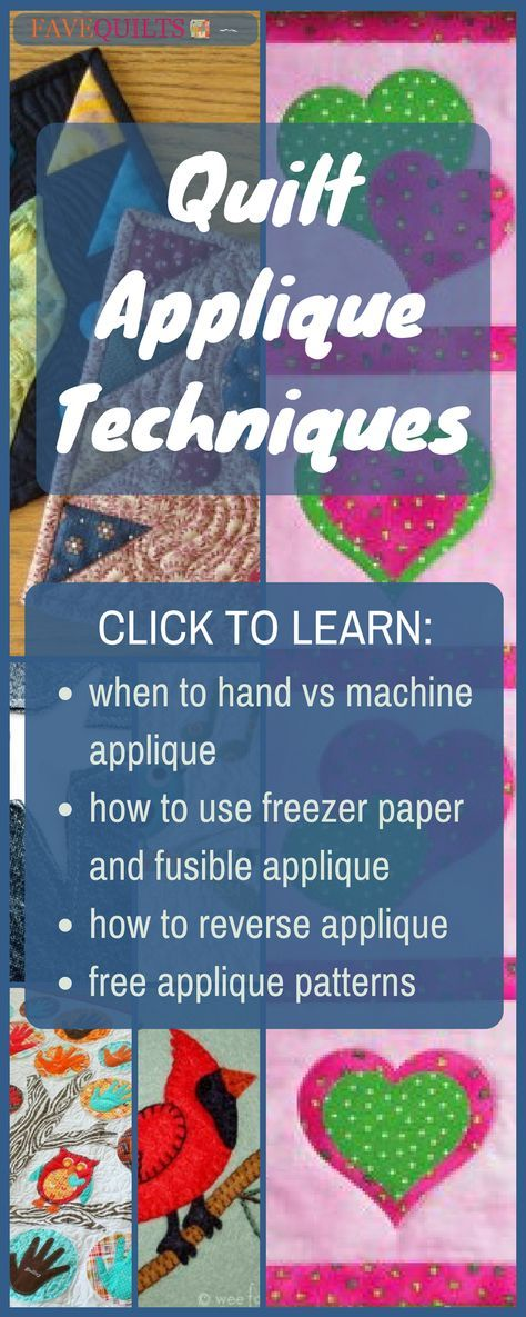Quilt Applique Techniques | Applique ideas, Patterns and Applique ...