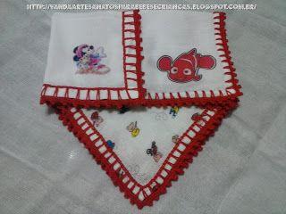 Fraldas De Boca Para Bebes Personalizadas E Com Bicos Em Croche
