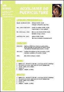 exemple de cv auxiliaire de puériculture CV auxiliaire de Puericulture N°26544 Exemple de CV auxiliaire de  exemple de cv auxiliaire de puériculture