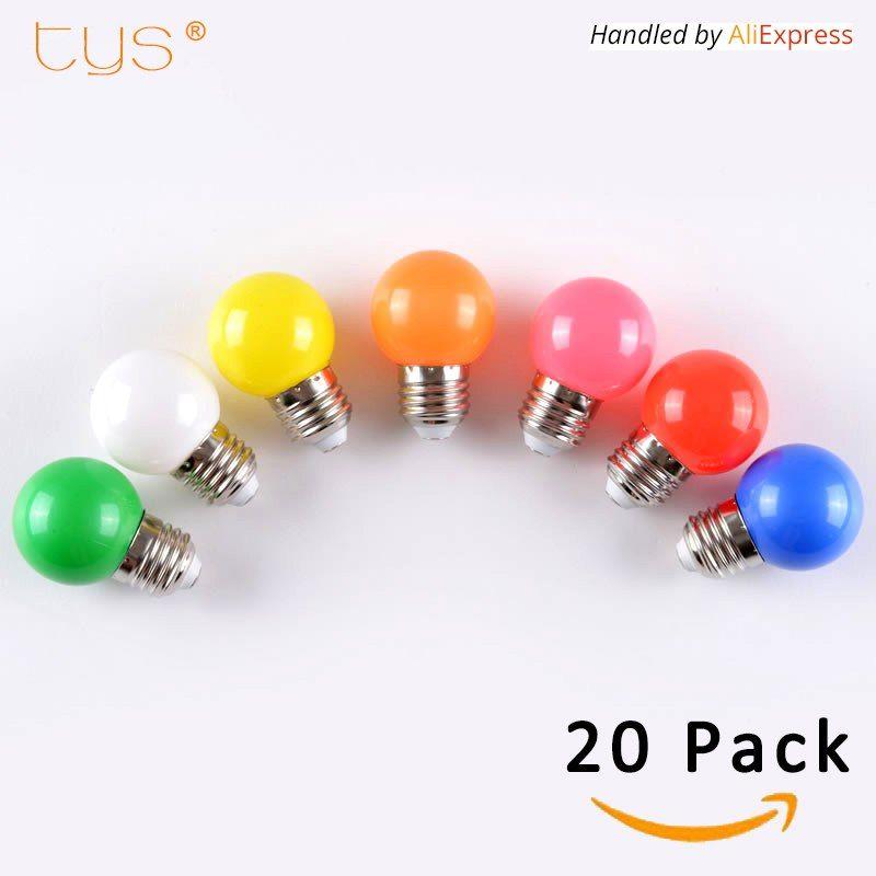 20 Sztuk Lampada Doprowadzily Lampy Kolorowe Bombillas E27 G45 220 V Doprowadzily Swiatla Smd 2835 Lamparas Led Zarowki Kolorowe Zarowki Swi Ampuller Ampul Led