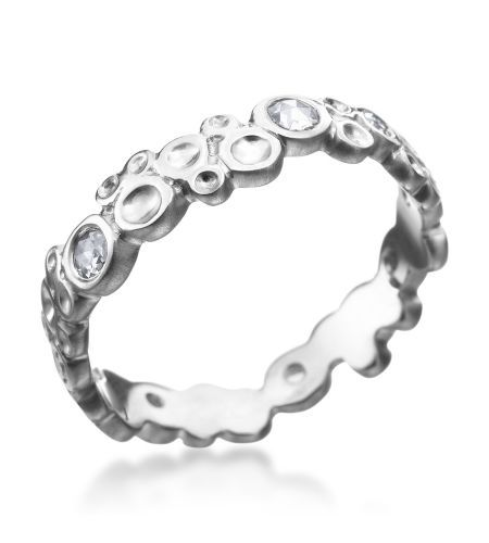 Anne Sportun - Verve Collection 18K White Gold Rose Cut Bubble Band