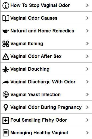 Vaginal pain odor after sex