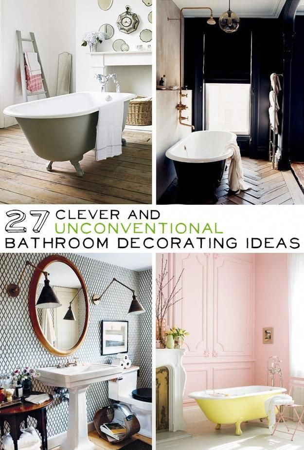 clever and unconventional bathroom decorating ideas decoratingbathrooms also rh pinterest
