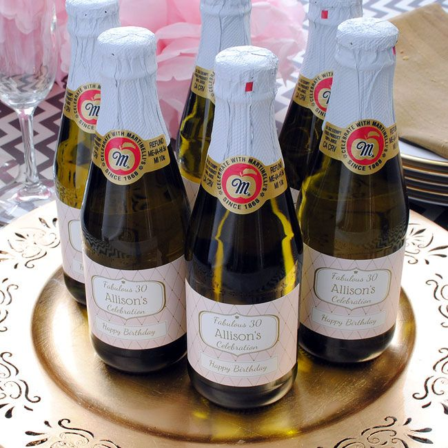 Martinellis Sparkling Cider Mini Bottles With Custom Label