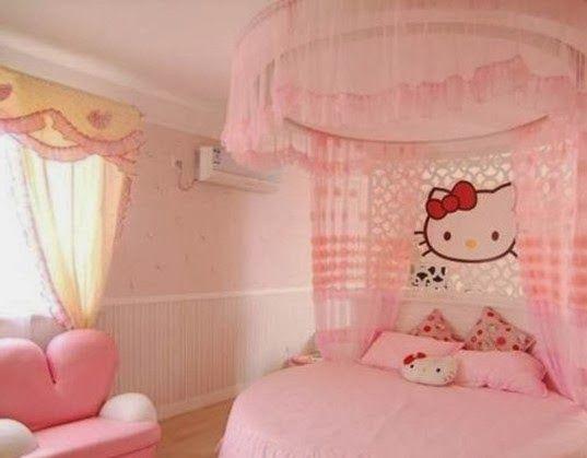 desain kamar tidur minimalis 2017 bertemakan hello kitty gambar 3