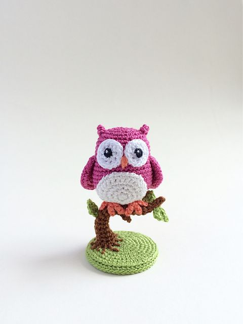 Amigurumi Little Owl (3.6cm, 1.4inches) - Free English Crochet ...