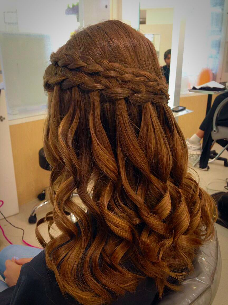 Prom, dance, or wedding special occasion Half up half down ...
