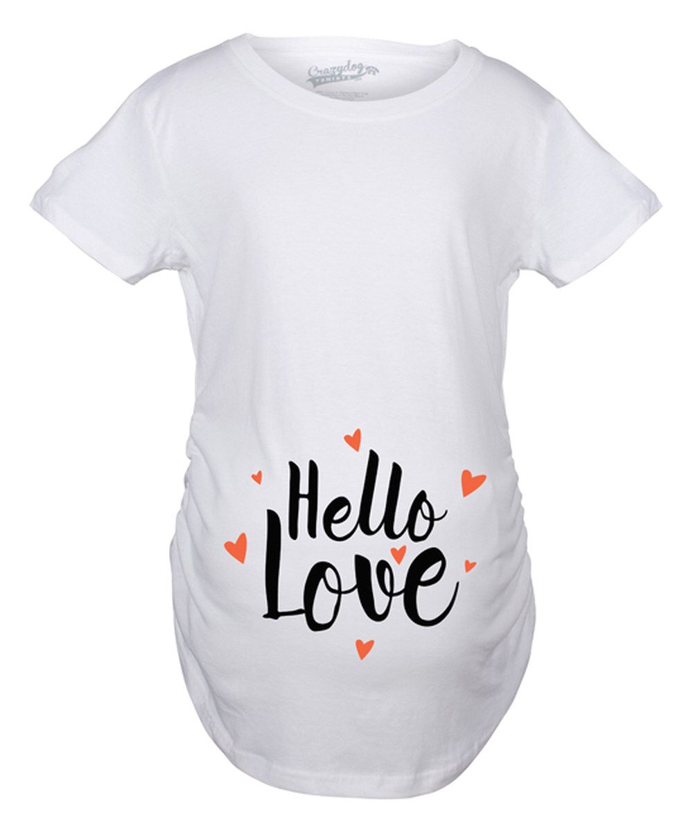 a4afa3a2e39da Look at this White 'Hello Love' Maternity Tee on #zulily today ...