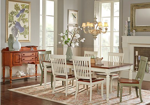 Picture Of Cindy Crawford Home Ocean Grove White 5 Pc Dining Room W/White  Chairs
