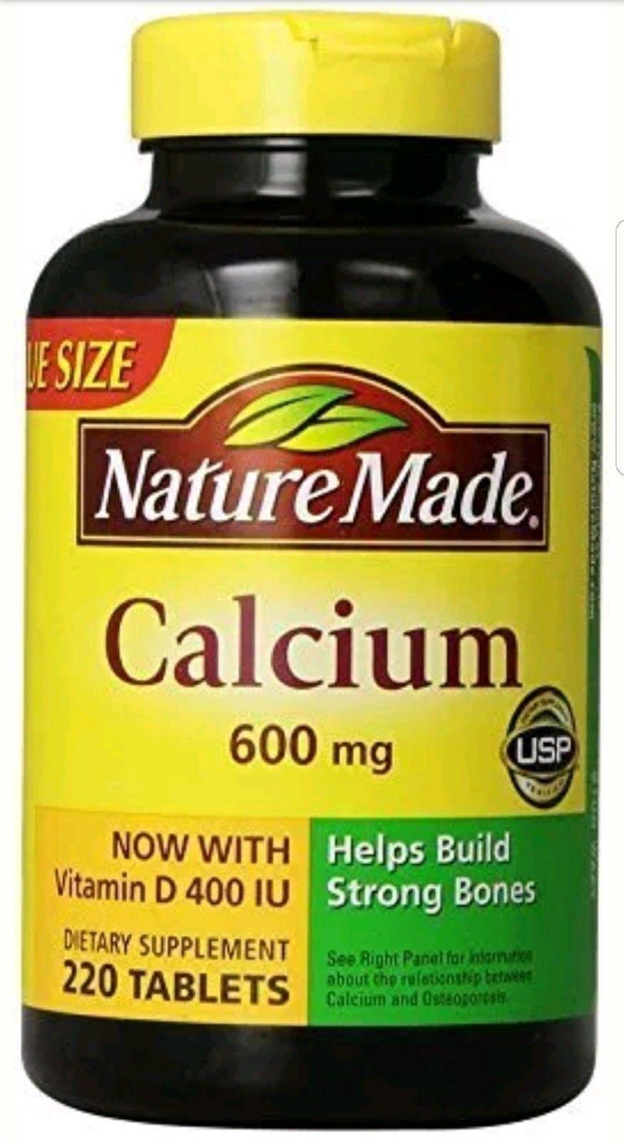 New Nature Made Calcium 600 Mg With Vitamin D3 400 Iu Value Size 220 Puritans Pride Magnesium Citrate Plus D 100 Capsules Count