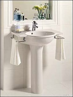 Pedestal Sink With Integral Towel Bar Google Search Pedestal
