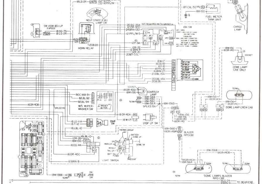 1998 Chevrolet Blazer Wiring Diagrams In 2021 Truck Interior Diagram Steering Column