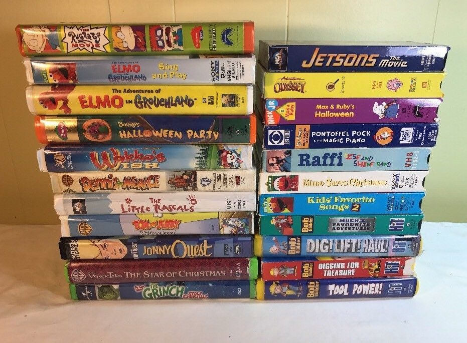 Kids Vhs Lot Of 22 Barney Raffi Bob The Builder Rugrats Jetsons Sesame Street