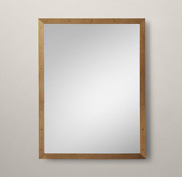 metal framed mirror wirth basement metal mirror mirror custom rh pinterest com