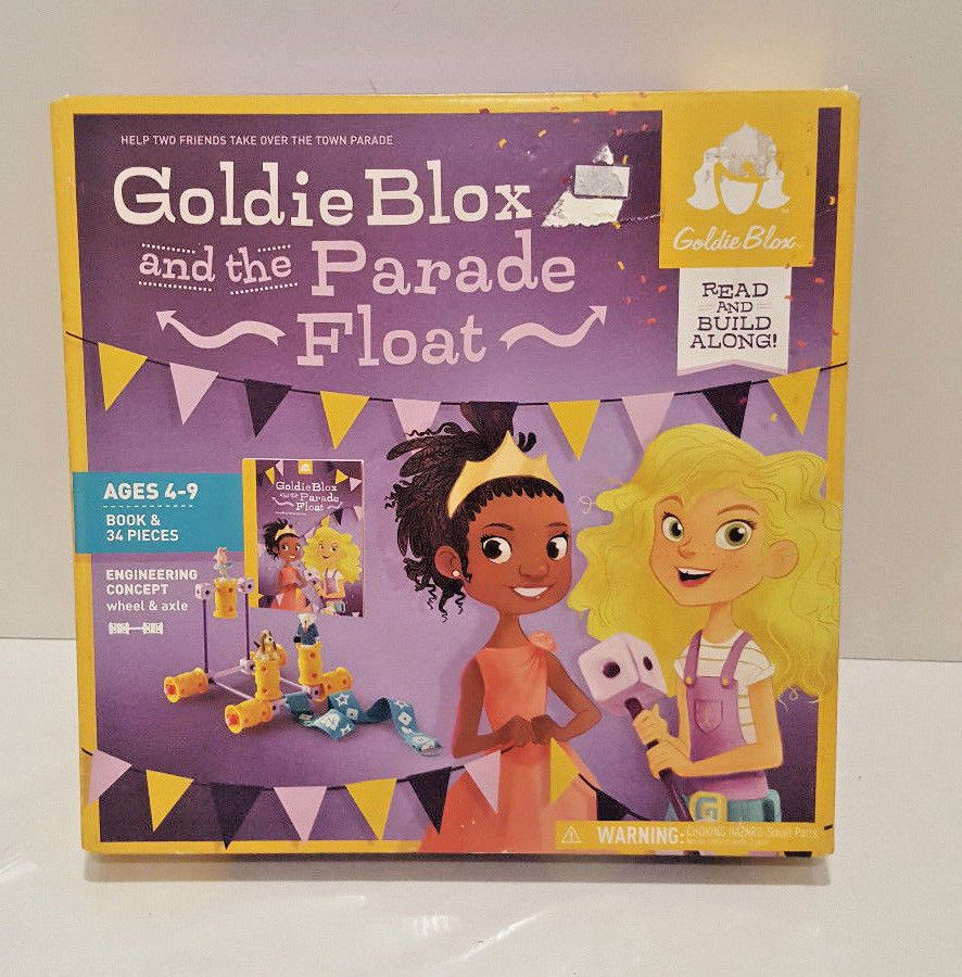 Goldie Blox and the Parade Float Read and Build Along Book & 34 Pieces NEW