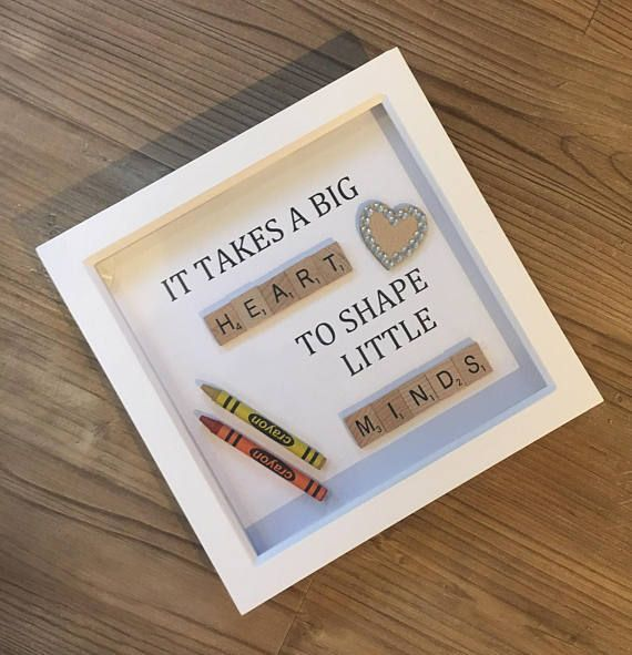 It Takes A Big Heart To Shape Little Minds- Teacher Gift Frame ...