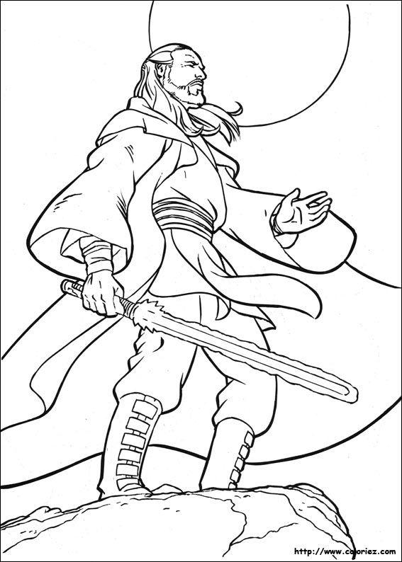 Qui-Gon maître Jedi | Coloring pages | Pinterest