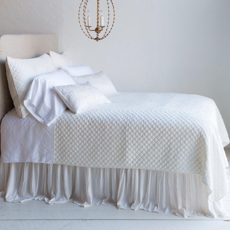 Bella Notte Silk Velvet Quilted Coverlet Velvet quilt