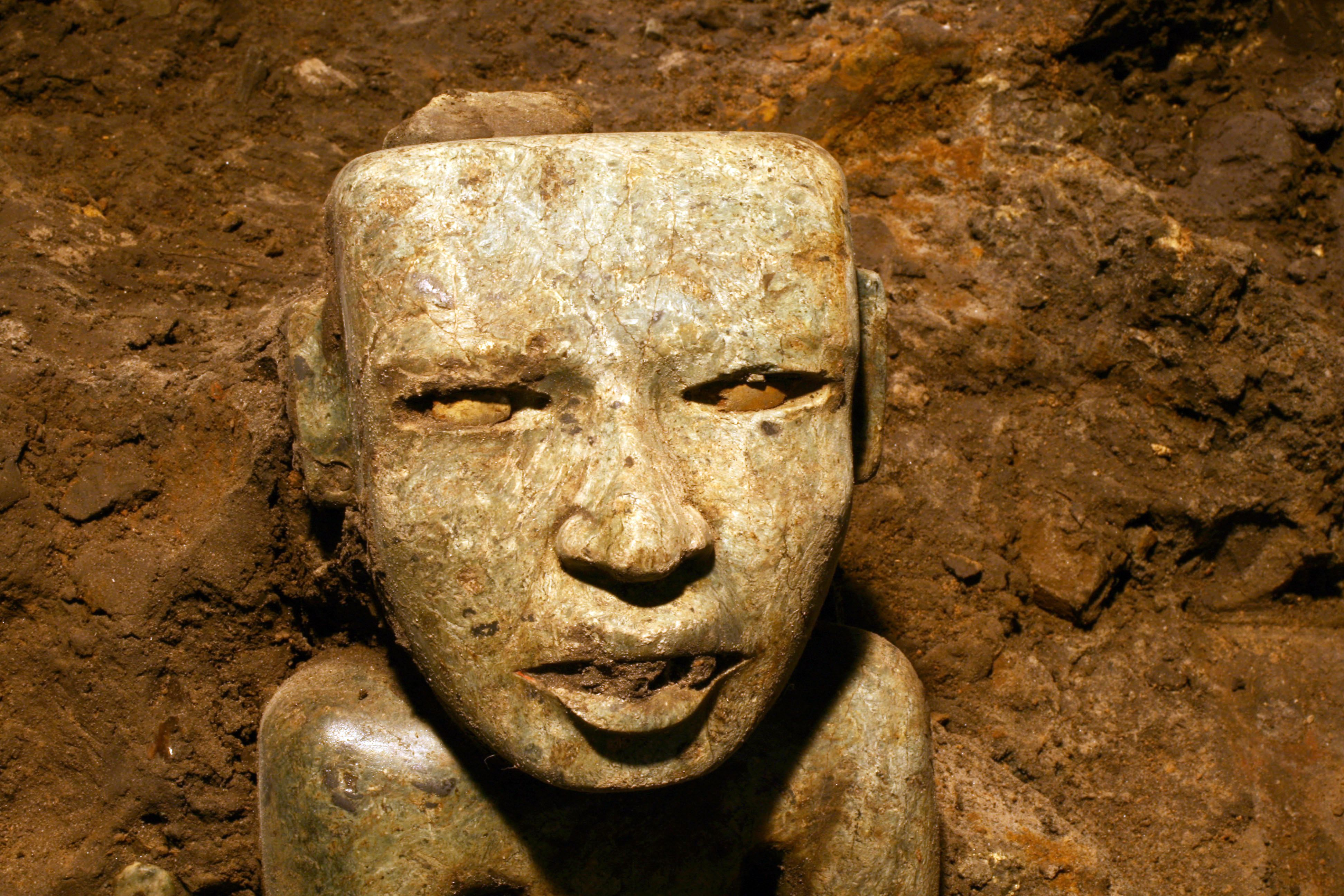 The mystery of the ancient stone with a human face