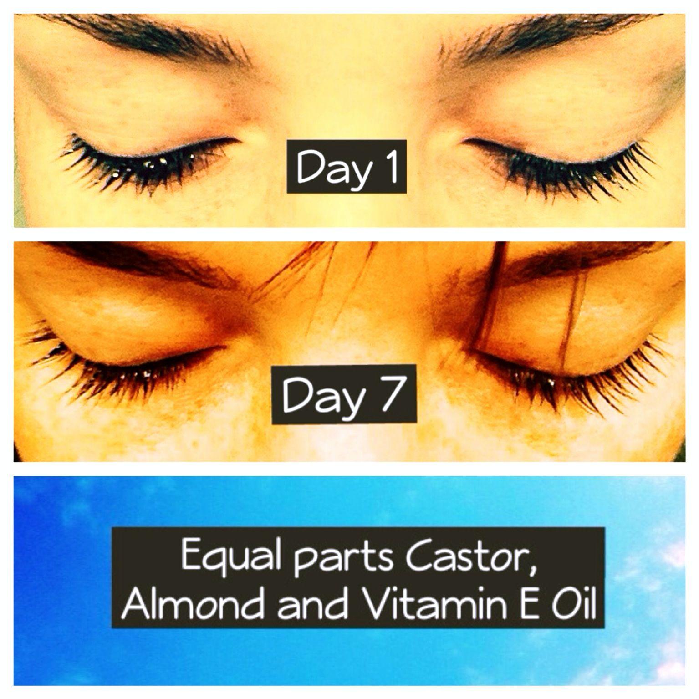 Diy Eyelash Growth Serum 1 Tbsp Castor Oil 1 Tbsp Almond Oil 1 Tbsp