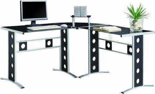 coaster shape home office computer desk. Fine Desk Coaster LShaped Computer Desk Black By Home Furnishings 14900  Contemporary And Shape Office Desk E