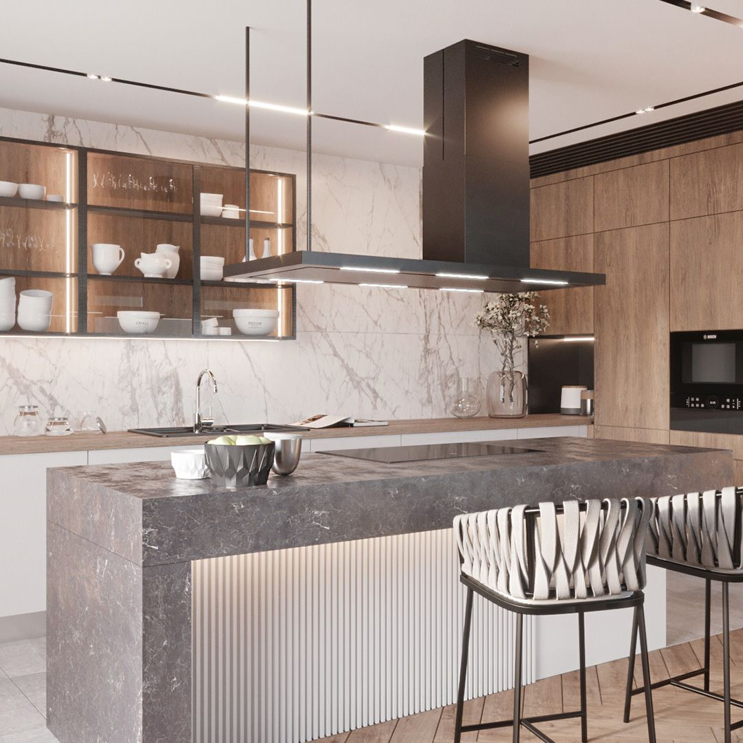 Okap Wyspowy Metropolis Black Nortberg Kitchen Glass Cube Home Decor