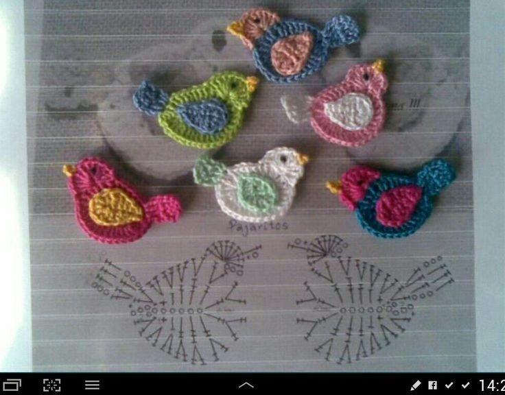 Patron de pajaritos al crochet | crochet | Pinterest | Patrones ...