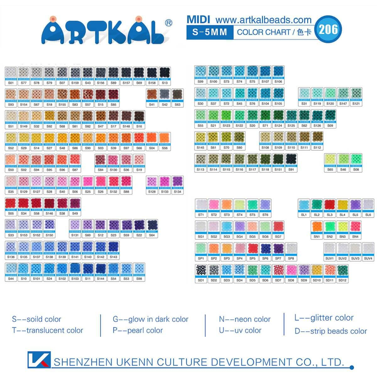 25 Bags 1000 Count Pack Midi S5mm Artkal Beads (SB100025 )
