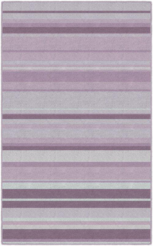 Laisha Traditional Pastel Striped Purple Area Rug