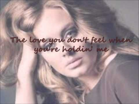 Adele I Can T Make You Love Me Lyrics Adele Lyrics I Love You
