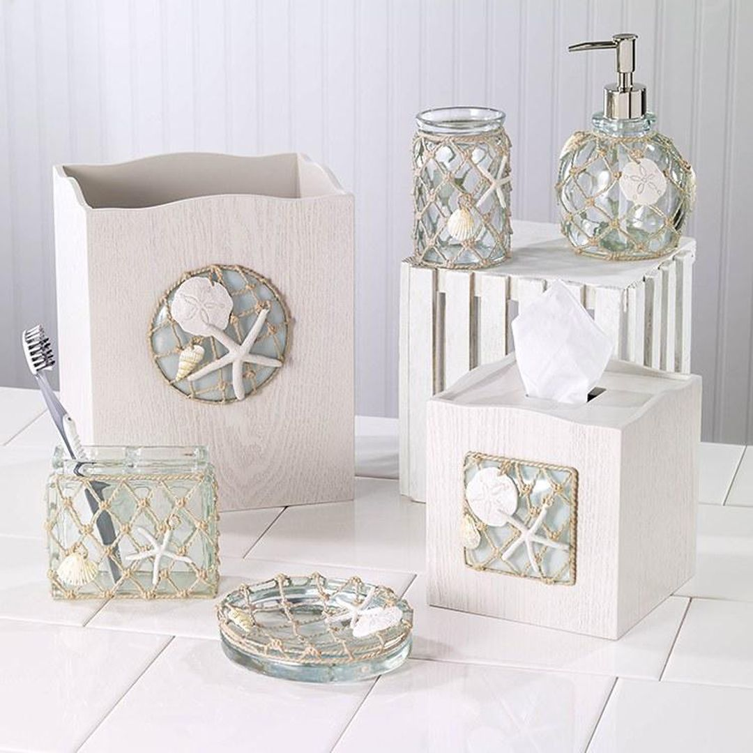 Seaglass Wastebasket