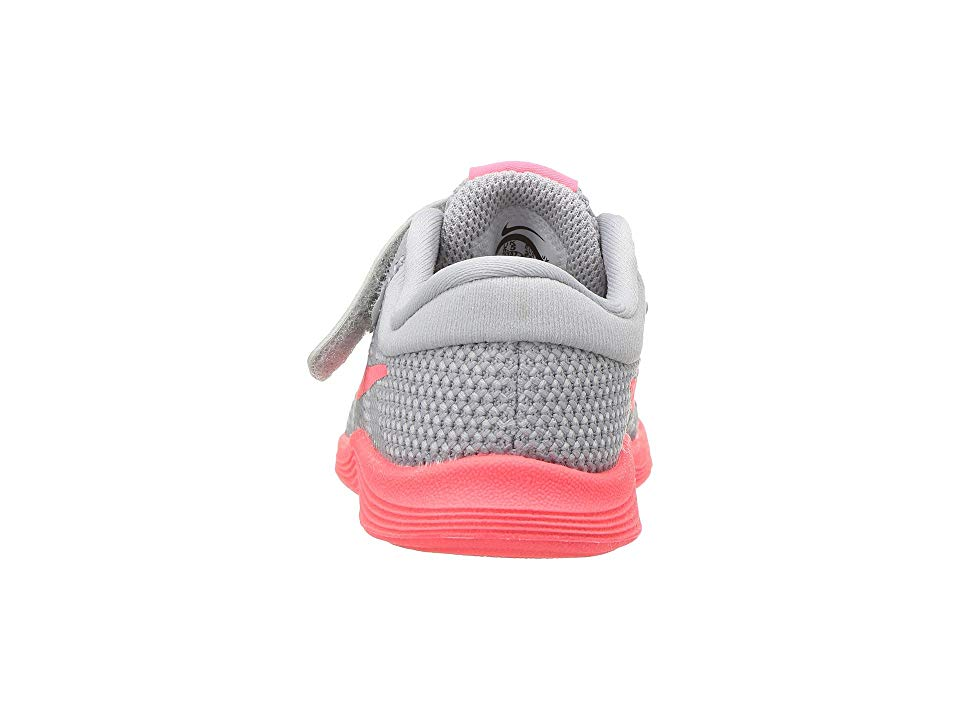 a9a67d8fe6be6 Nike Kids Revolution 4 Fade (Infant Toddler) Girls Shoes Wolf Grey Hot  Punch Volt Black