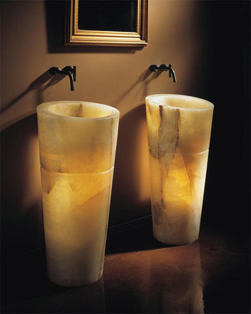 Onyx Pedestal Sink By Stone Forest Furniture Natural Stone
