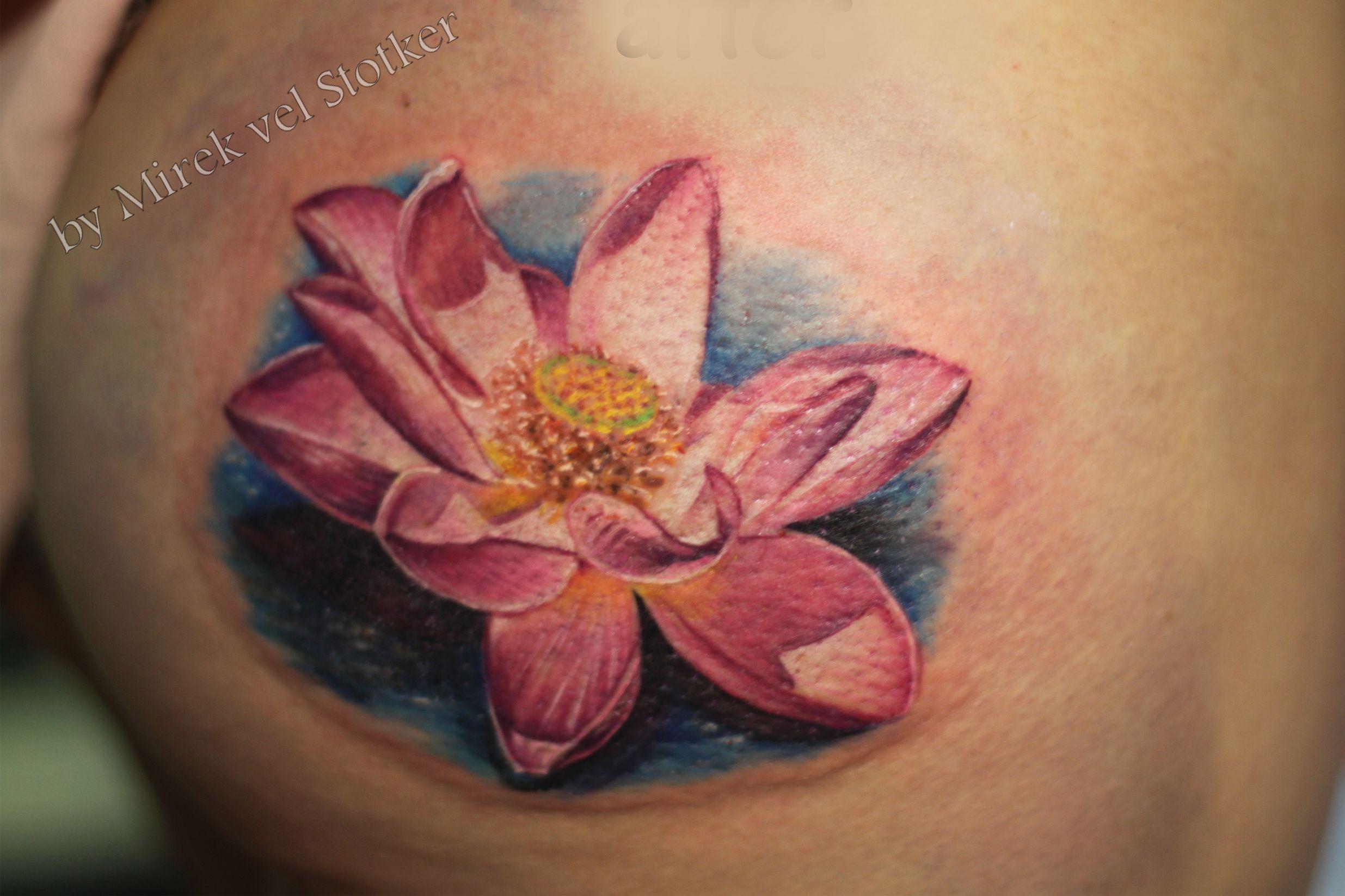 Lotus Flower Tattoo By Mirek Vel Stotker Flor De Loto Tatuaje