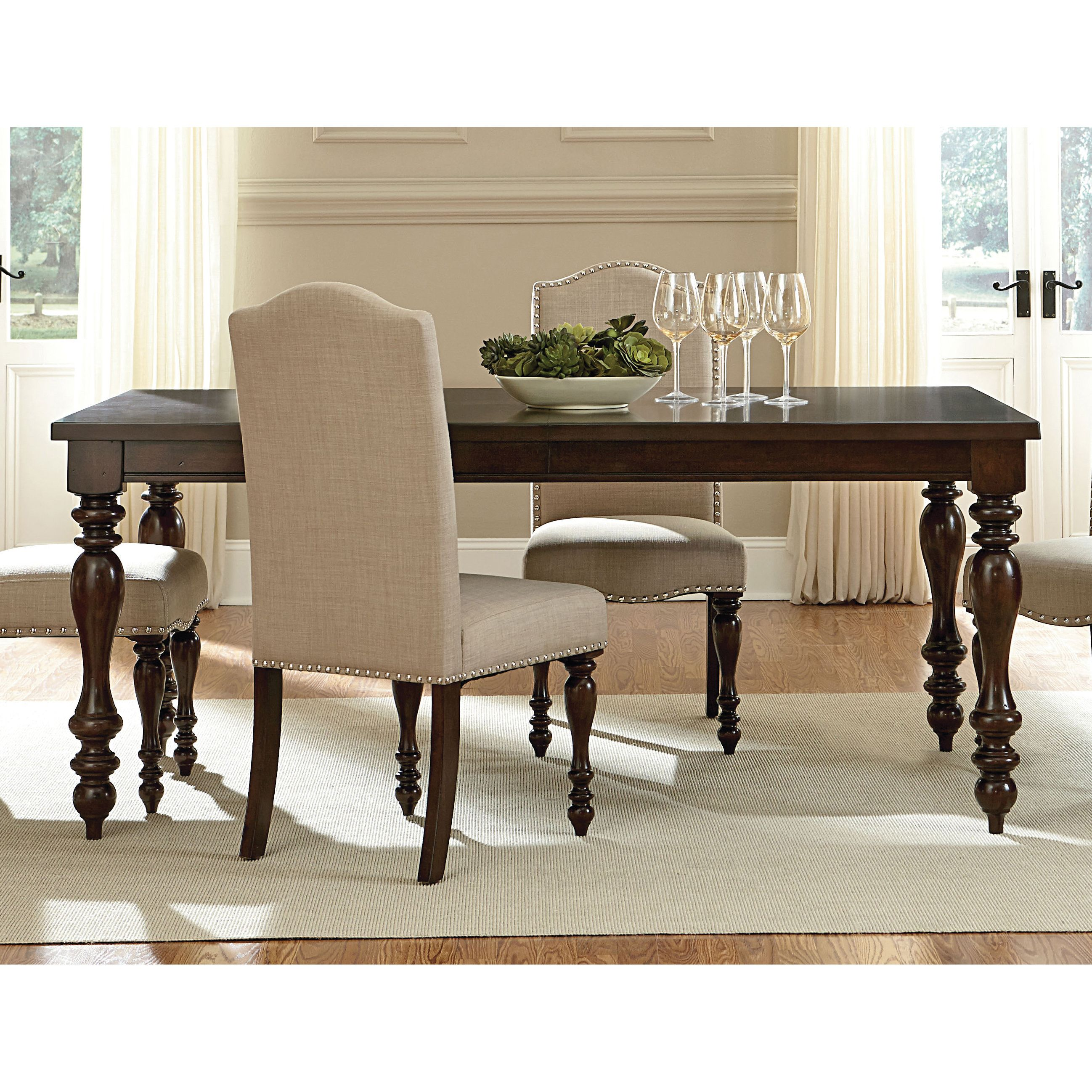 Peachy Art Van Mcgregor Leg Table Dining Room Traditional Pabps2019 Chair Design Images Pabps2019Com