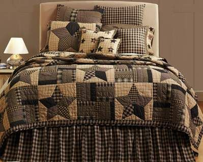 Best Black Gingham Star Quilt Quilt Sets Bedding Star 640 x 480