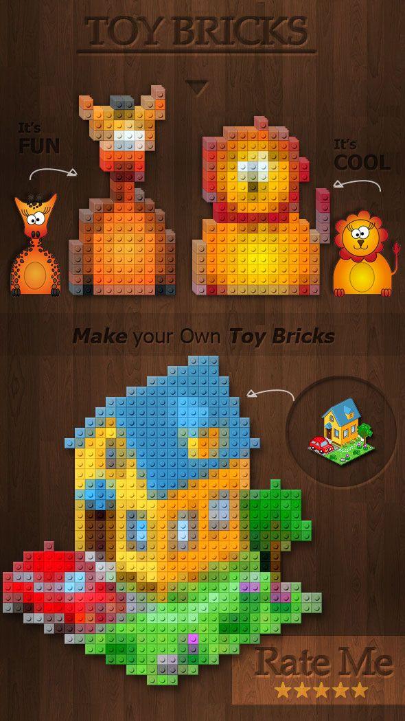 Lego Toy Bricks Photoshop Action Generator   HYBRID   Pinterest ...