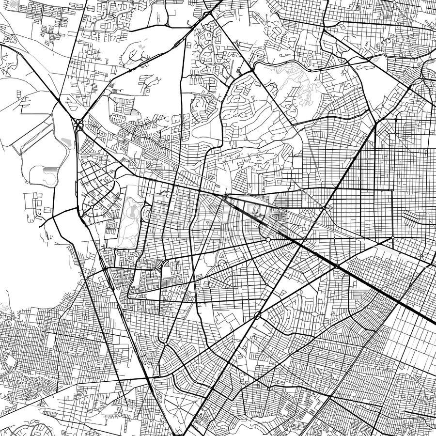 Zapopan Jalisco Downtown Vector Map