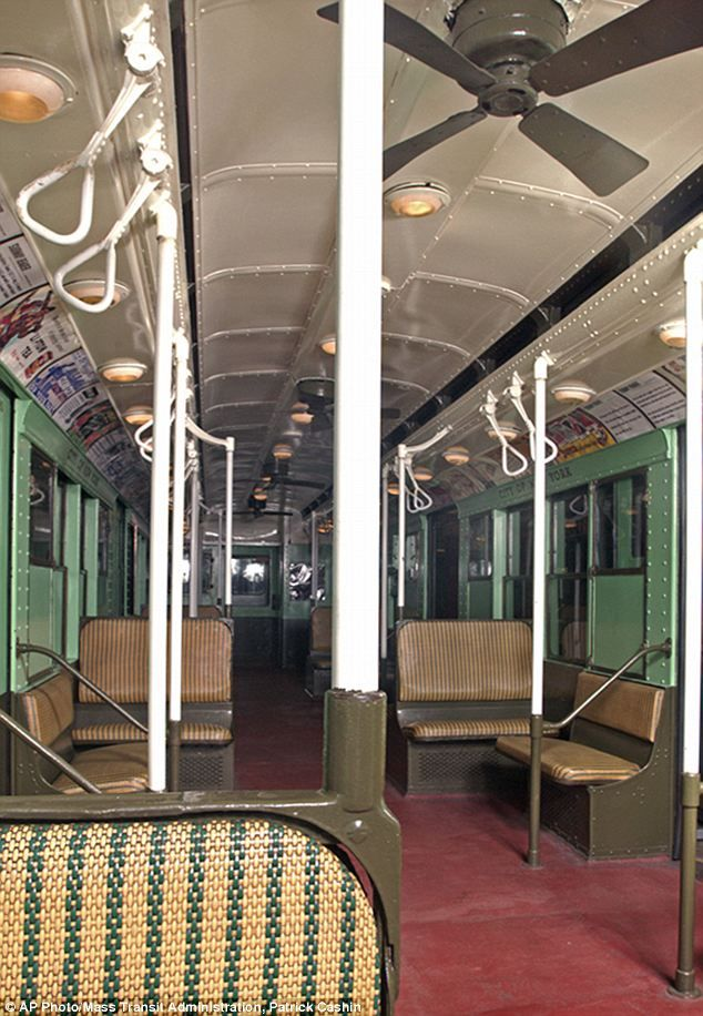 Wicker Seats Ceiling Fans And Rusted Metal Lucky New York City Subway Riders Get A Brief Nostalgia Trip In 1930s Vintage Car Daily Mail